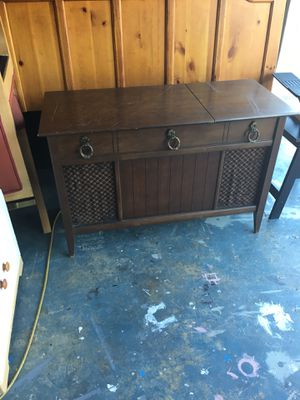 Stereo console in work condition, you can come and try before buy, only need new paint. for Sale in Hudson, FL