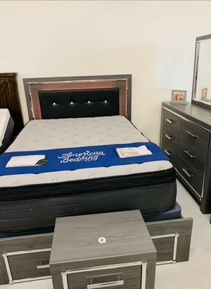 ♨️♨️ Best Offer ♨️SPECIAL] Lodanna Gray LED Storage Bedroom Set 🙋‍♀️🙋‍♀️🙋‍♀️SAME DAY DELIVERY ON DISPLAY for Sale in Jessup, MD