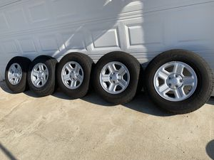 Jeep Wrangler wheels rims and tires 225-75-16 for Sale in Glendora, CA
