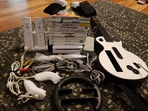 Nintendo wii+ lots accessories +10games for Sale in Tampa, FL