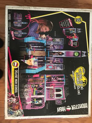Used, Monster high deluxe high school dollhouse for Sale for sale  Charlotte, NC