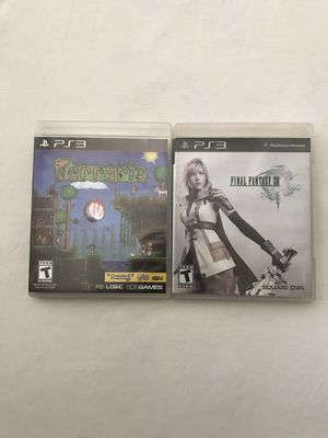 Ps3 Games: Terraria & Final Fantasy XIII Disc Like New $5 Each Game for Sale in Reedley, CA