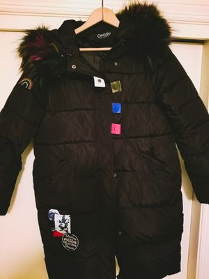 Black Puffy Coat w/fun accents for Sale in McLean, VA