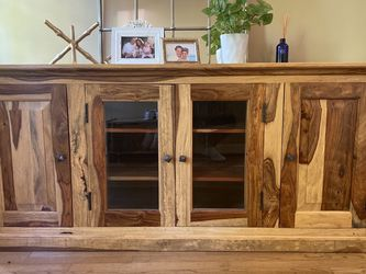 Console Table Media TV Stand Solid Wood for Sale in Lake Oswego,  OR