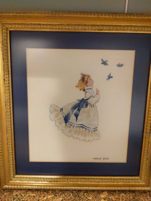 Girl looking at bluebirds for Sale in Vero Beach, FL