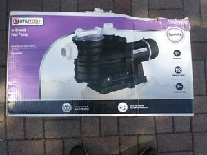 "Utilitech 1 1/2 Hp Pool Pump. ""NEW"" for Sale in Traverse City, MI"