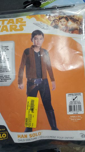 Star Wars Han Solo costume large 12 to 14 for Sale in Riverside, CA
