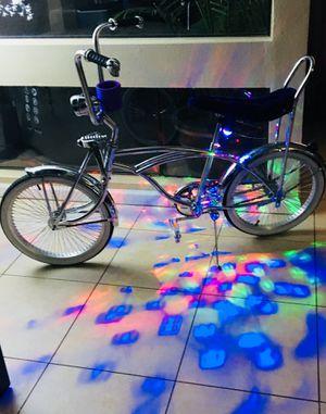 Chrome Low rider cruiser bike. Suspension fork Perfect condition for Sale in Phoenix, AZ