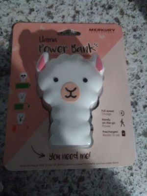 llama power bank & ear buds for Sale in Montebello, CA