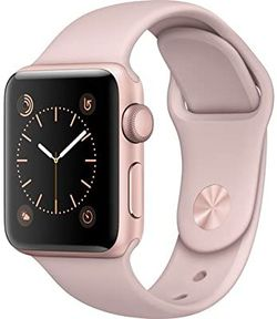 Apple Watch Series 2 Smartwatch 38mm Rose Gold Aluminum Case, Pink Sand Sport Band (Renewed) for Sale in Seattle,  WA