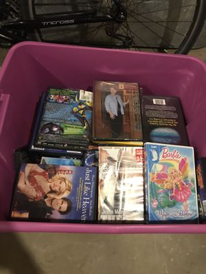 Large box of dvds for Sale in Akron, OH