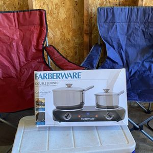 Camp Chairs, Cooler, Cooktop for Sale in Portland, OR