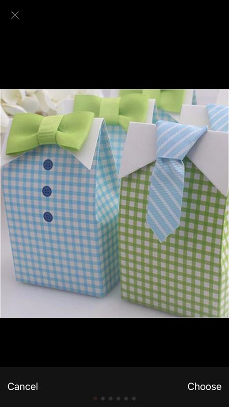 Blue and Green treat boxes
