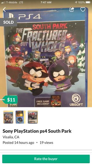 Sony PlayStation ps4 South Park for Sale in Visalia, CA
