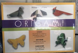 origami animals by Michael G. LaFosse 98 sheets paper foil & patterned for Sale in San Jose, CA
