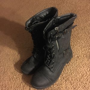 Black Suede Combat Boots for Sale in Kennewick, WA