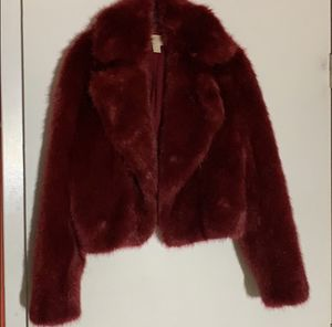Red Michael Kors Faux Fur Jacket for Sale in Alpharetta, GA