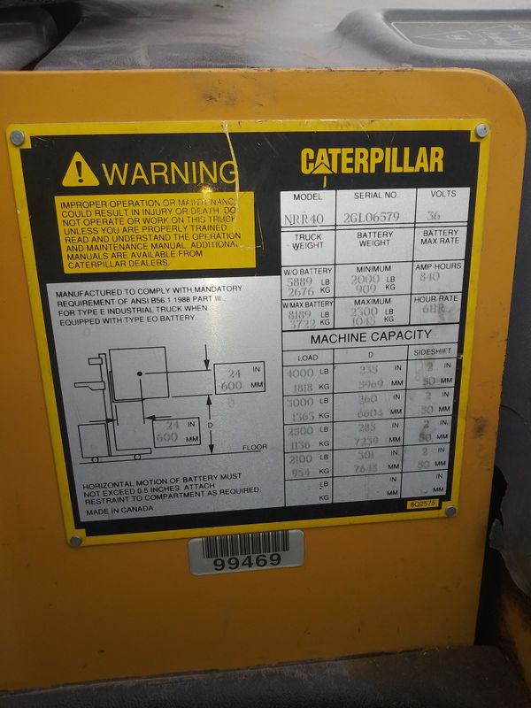 CATERPILLAR. Electric Stand Up Reach Forklift