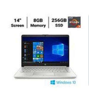 HP Laptop 14-dk1074nr Laptop, AMD Ryzen 3 3250U2a Processor, 8GB Memory, 256GB SSD for Sale in Miramar, FL