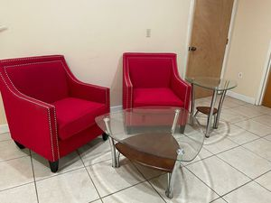 Red couches with tables for Sale in NEW PRT RCHY, FL