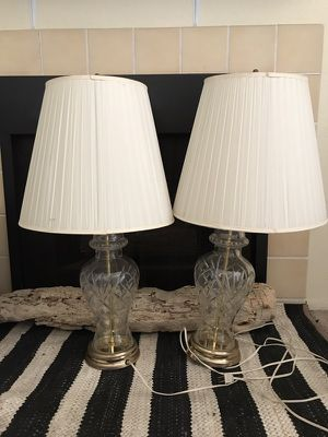 Two Antique Beveled Glass Table Lamps. for Sale in San Diego, CA