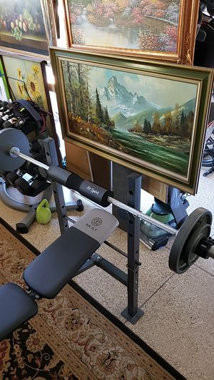 Olympic weight set for Sale in Orange, CA