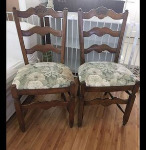 Vintage Phoenix Chair Company 2 Ladder Back Chair 2 chairs Wooden made for Sale in Dania Beach, FL