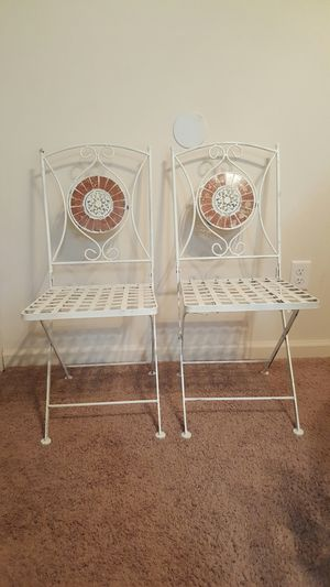 2 beautiful metal chairs for Sale in Columbia, SC