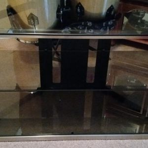 Black Glass Tv Stand for Sale in Fresno, CA