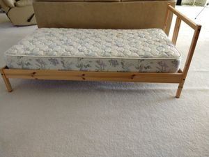 Twin bed frame with mattress for Sale in Chantilly, VA