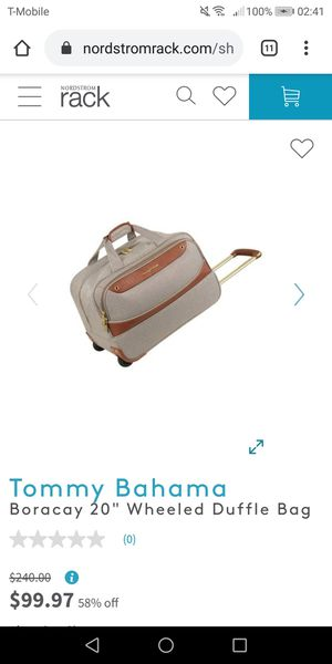 "Tommy Bahama Boracay 20"" wheeled duffle bag - new for Sale in Naperville, IL"