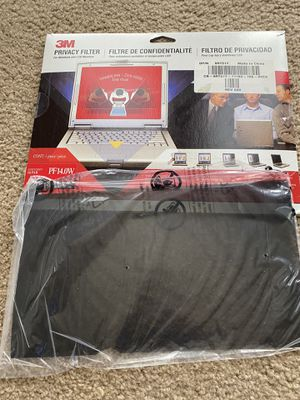"3M PF14.0W 14"" Notebook LCD Widescreen Privacy Filter, Black ~ NEW SEALED for Sale in Renton, WA"