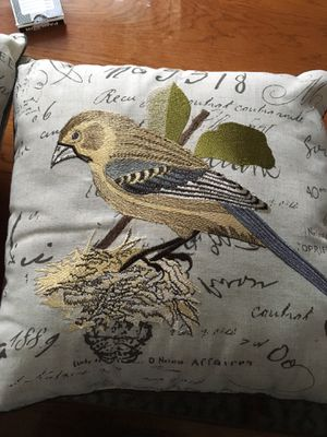 Gold and Blue Embroidered Throw Pillows for Sale in Baltimore, MD