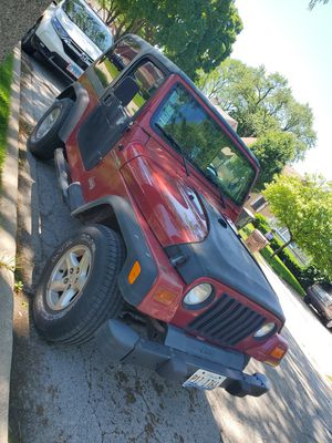 1999 Jeep Wrangler SE TJ 4 Cylinder Manual for Sale in Evanston, IL