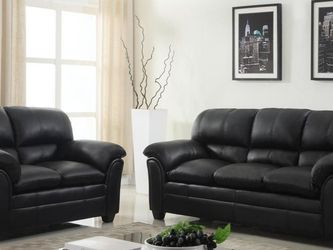 ☑️Halo Black Sofa & Loveseat🌺New ▶️Instock for Sale in Silver Spring,  MD