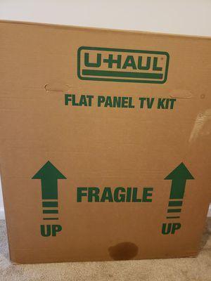 u haul flat tv panel box for Sale in Ashburn, VA