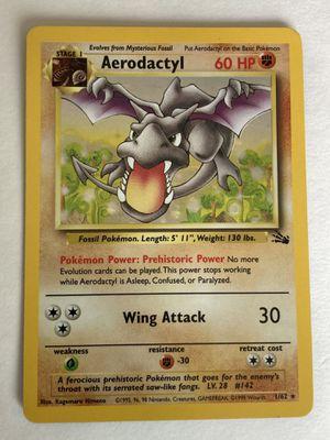 Pokemon card AERODACTYL 1/62 fossil set - rare holo NM Condition for Sale in Pasadena, CA