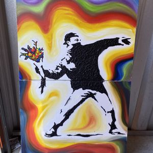 Banksy Rage The Flower Thrower Remix for Sale in Columbia, SC