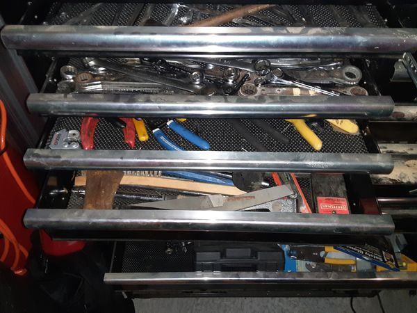 Husky double tool box, full of tools