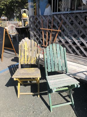 Cutest weathered folding chair. for Sale in Morro Bay, CA