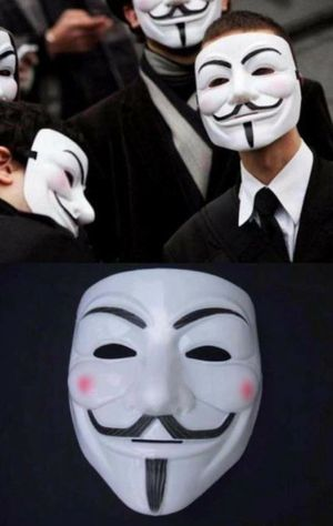 NEW V for Vandetta mask halloween guy fawkes anonymous cosplay fancy dress costume party for Sale in Whittier, CA