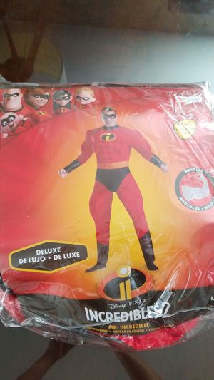 Mr Incredible Deluxe Muscle Adult Costume L-XL for Sale in Las Vegas, NV