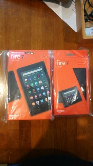 New Fire 7 with Alexa 32GB with Fire 7 Charcoal Cover for Sale in Bothell, WA