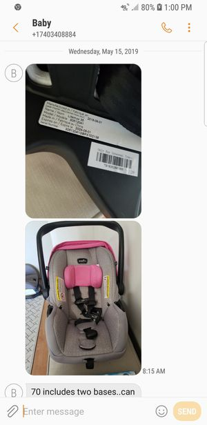 Baby car seat plus extra base for Sale in Saint CLAIRSVLE, OH