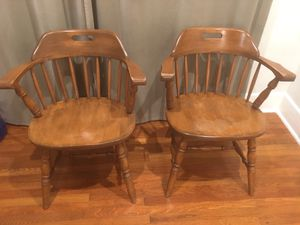 1950's Pair of a Classic American Captain Chairs for Sale in San Diego, CA