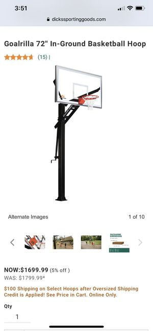 In ground Basketball hoop for Sale in Lakewood, CO