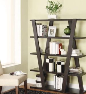New!! Bookcase, bookshelves, organizer, 5 shelf bookcase, storage unit, living room furniture, entrance furniture, shelving display , capuccino for Sale in Phoenix, AZ