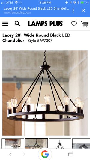 Lacey 28'' Wide Round Black LED Chandelier. for Sale in NJ, US
