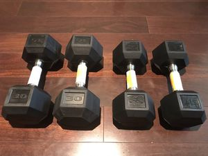 110LB DUMBBELL SET - 25LB, 30LB PAIR - BRAND NEW - PRICE FIRM for Sale in Homeland, CA