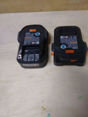 Ridgid new batteries 2 pack for Sale in West Covina, CA